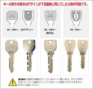 使用できる鍵