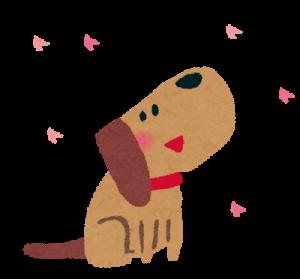 お花見イヌ